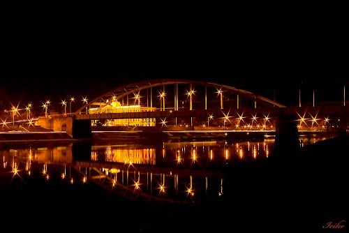 Night at the Bridge - Szeged, Hungary