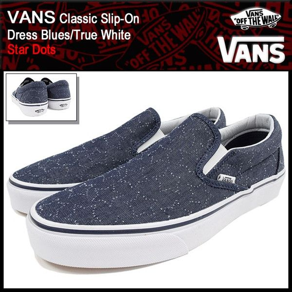 28e8c7fd1807e1 VANS Dress BluesTrue White (VN-0004MPJRJ Slip-On Star Dots)   icefield VAN-VN-0004MPJRJ  -  39.99   Vans Shop