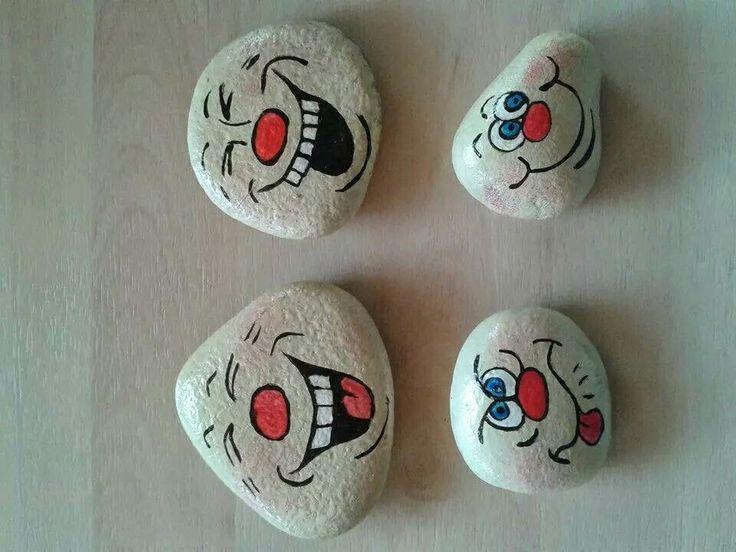 Bemalte steine gesichter