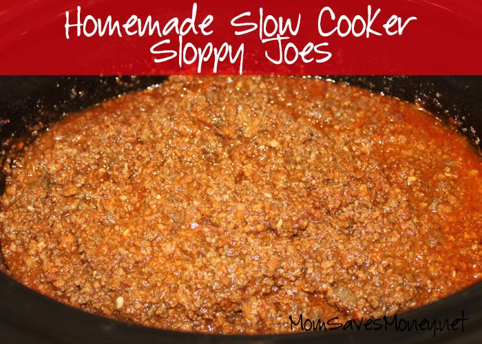 Easy, homemade sloppy joe recipe that can be cooked in a slow cooker or on the stove. Bonus - it's freezer friendly, so make a big batch & save time!