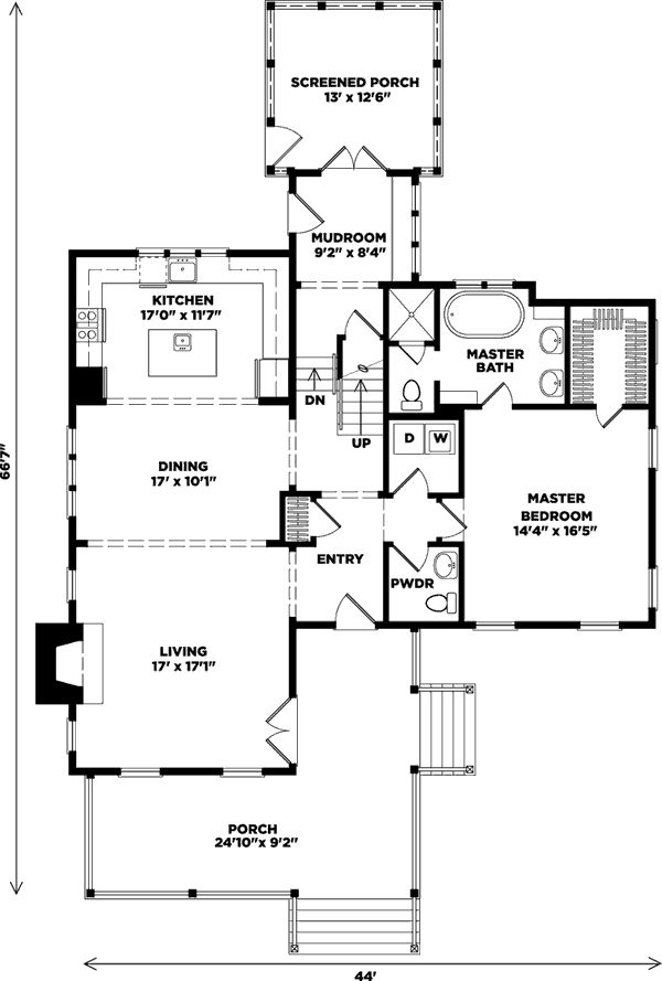 Wildmere cottage plan sl 1110 floor plans 2 for Southern living cottage floor plans