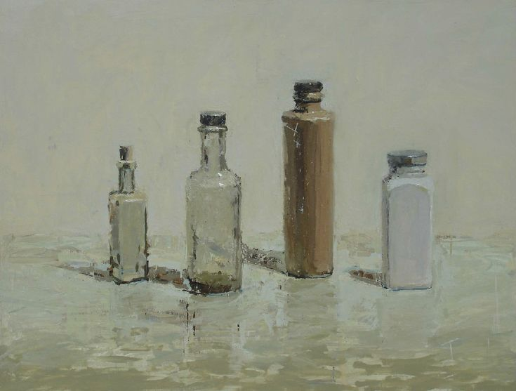 Two Square Jars, oil on panel by Brian Blackham |