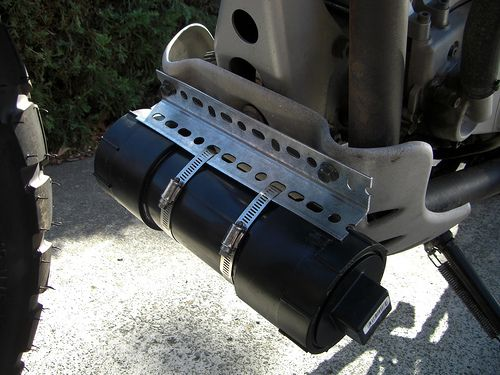 3″ PVC Tool Tube for the F650GS   Bluepoof's Adventures