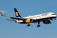Icelandair Boeing 757-223(WL) TF-ISS aircraft, named ''Dyngjufjoll-name of mountains'', on short finals to Canada Toronto Pearson International Airport. 21/06/2016.