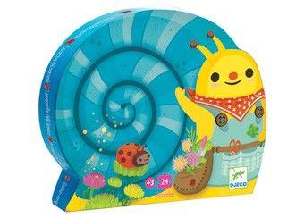 te gekke 'Tuinierende slak' puzzel +3j. DJECO | kinderen-shop Kleine Zebra