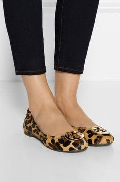 Leopard Print Reva Flats