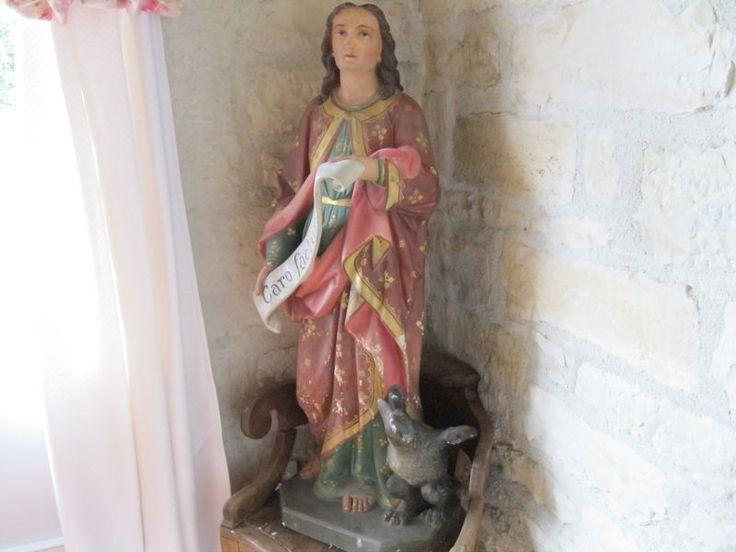 Saint Jean en plâtre polychrome