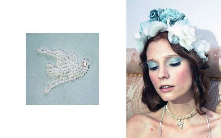 The Candie silk slipdress with hand beading / Nora Sarman / photo Eva Szombat / concept and hair Judit Iglody / make up Barbara Keseru / model Viktoria Icon