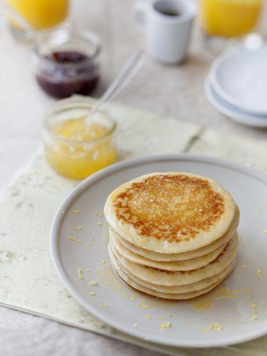 citron, oeuf, bicarbonate, sucre en poudre, lait, farine