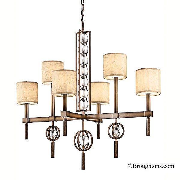 Kichler celestial 6 light rectangular chandelier cambridge bronze