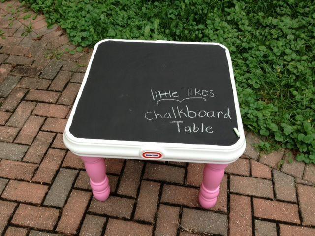 Little Tikes Chalkboard Table - Rustoleum chalkboard paint