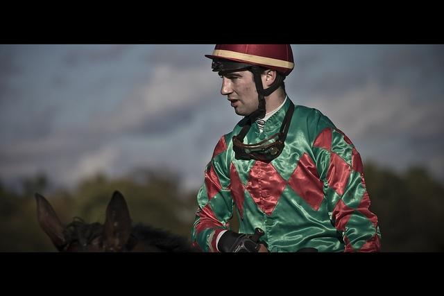 Closeup of jockey