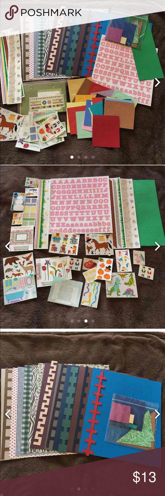 Paper 11--Creative Memories Pre Cut 12x12 Zig Zag Paper 1--ABC/abc ...