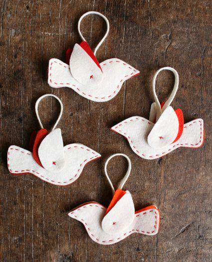 felt bird decorations