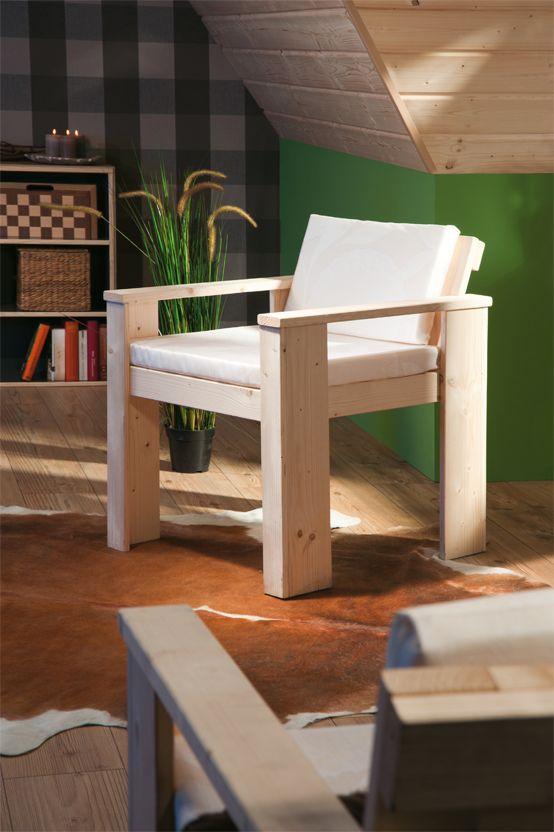 #Holzsessel selber bauen! Die passende Anleitung gibt's natürlich bei uns. Also, nachbauen und zeigen! #DIY