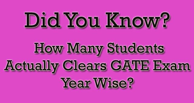 DYK? How Many Students Clears GATE Exam?  #DYK #GATE2018 http://gate2018.com/how-many-students-actually-clear-gate-exam/