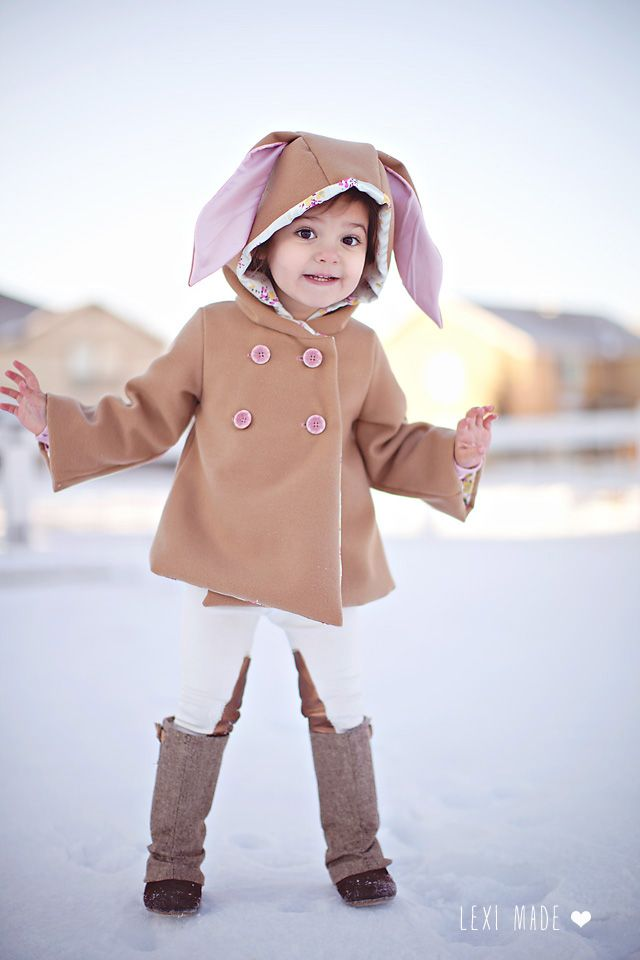 Lexi Made - Bunny Coat Pattern Mash Up Tutorial