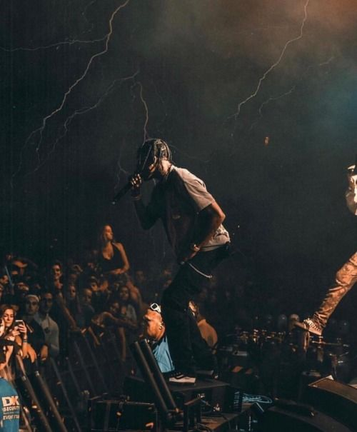 Travis Scott live performance.
