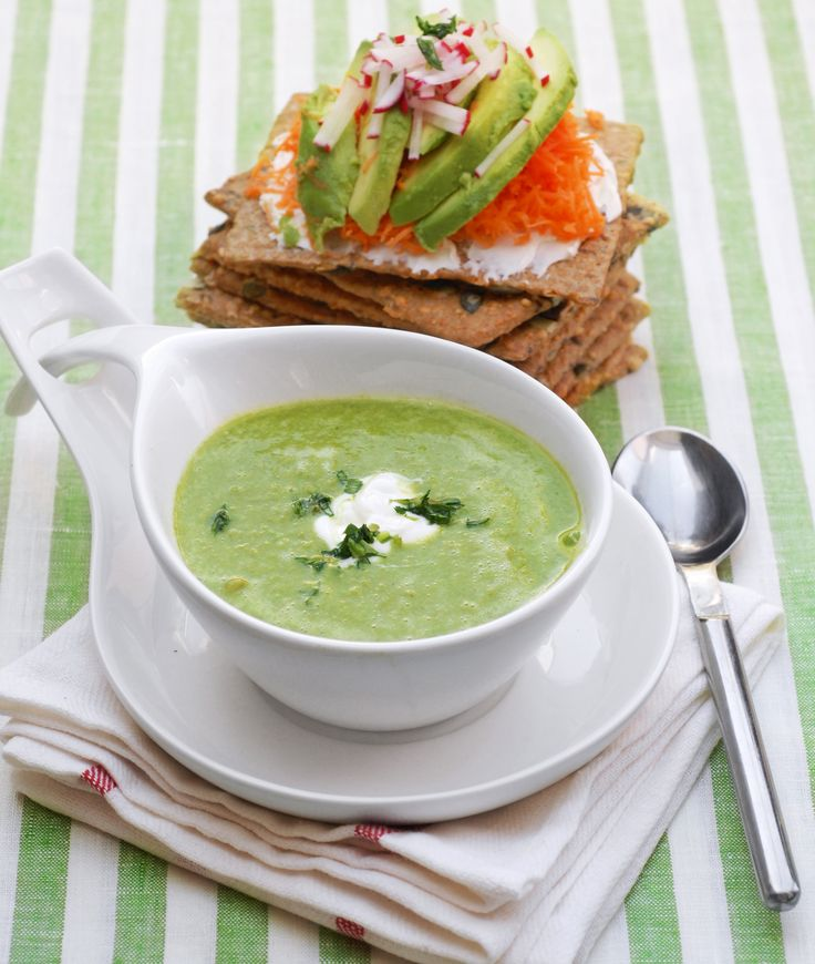 Grön ärtsoppa - Crème Ninon - Recept - Tasteline.com