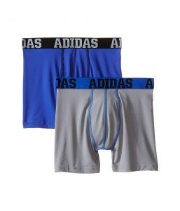 adidas Kids Sport Performance Climalite 2-Pack Boxer Brief (Big Kids) (Black/Bold Blue/Blod Blue/Black) Boy's Underwear