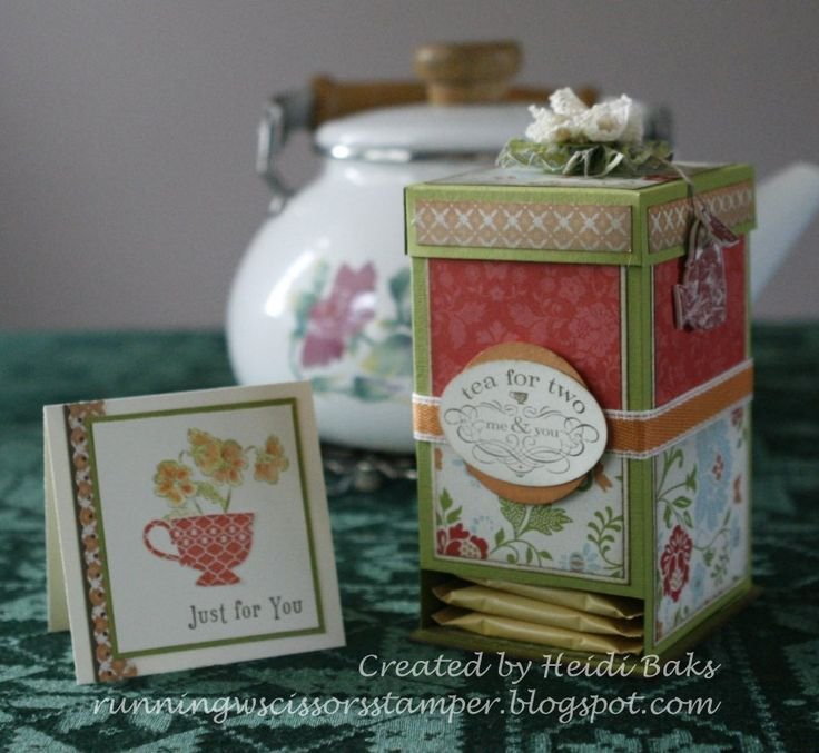 Thanks for coming back today for some additional details on my 3-D project from the Stampin' Addicts Occasion Mini Blog Hop, the tea bag dis...