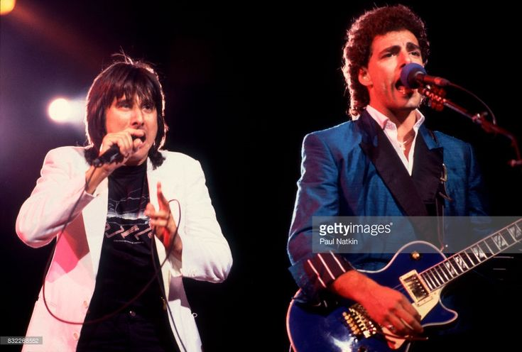 Steve Perry and Neal Schon of Journey at the Rosemont Horizon in Rosemont, Illinois, June 12, 1983.