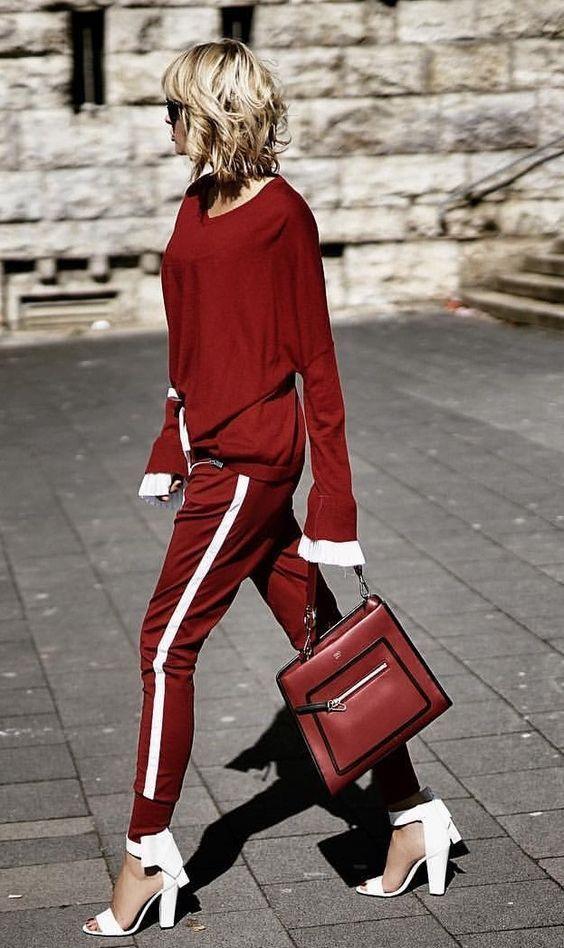 92899b4fb10 Comment porter la tenue rouge et blanc -  blanc  Comment  porter  rouge   tenue