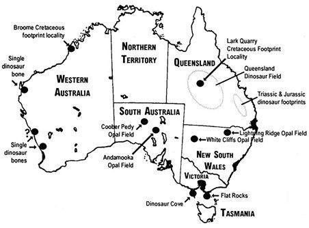 Dinosaur Cove, Victoria, Australia Map of Australia
