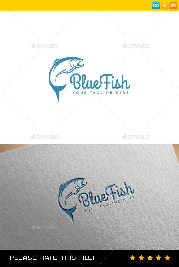 Fish  Logo Design Template Vector #logotype Download it here: http://graphicriver.net/item/fish-logo/9356134?s_rank=797?ref=nexion