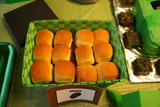 Bread. I don't think I would put as much of it, but bread is a must at any minecraft event.