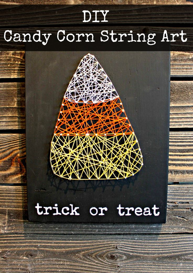 Candy Corn String Art | My Crafty Spot - When Life Gets Creative
