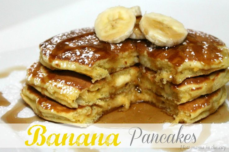 Banana Pancakes Recipe - this was a hit!  I've been trying banana pancake recipes off and on, but haven't found one we enjoyed as much as this!