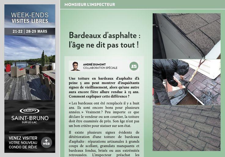 Toiture en bardeaux d'asphalte - signes de vieillissement - La Presse +