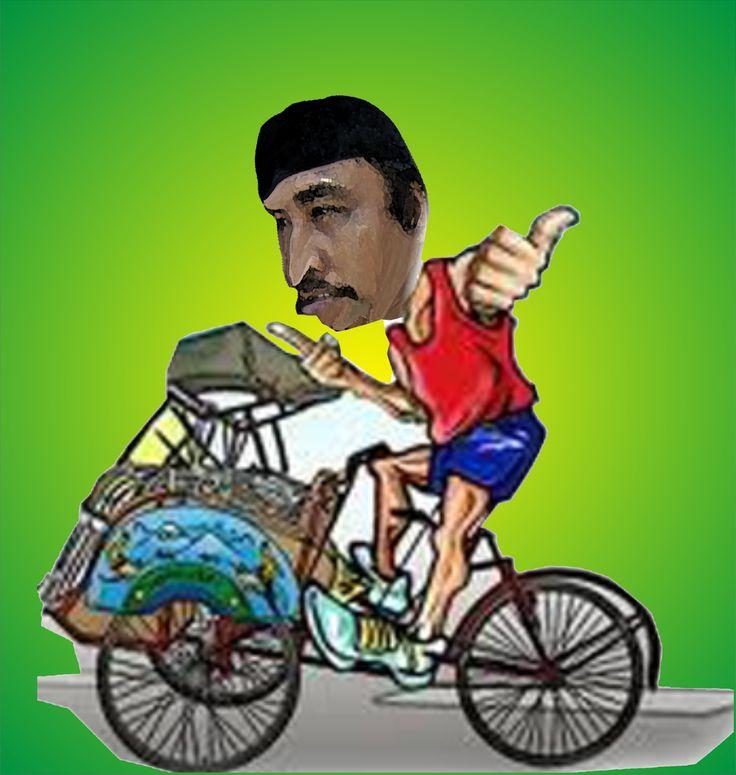 gambar becak - http://www.dagelanmeme.com/gambar-becak/
