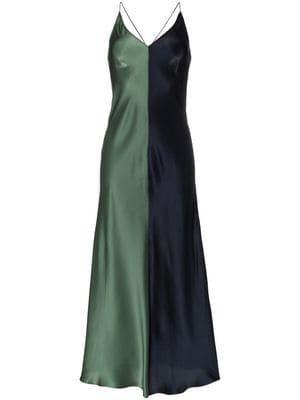 563151c7f0f Sierra two-tone silk slip dress