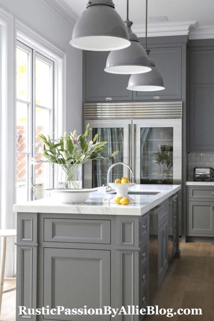 Kitchen Remodeling Projects, Country Gray Kitchen Cabinets