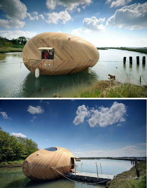 Floating Egg-Shaped Office is a Self-Sustaining Work Space And i thought that only rotten eggs float!