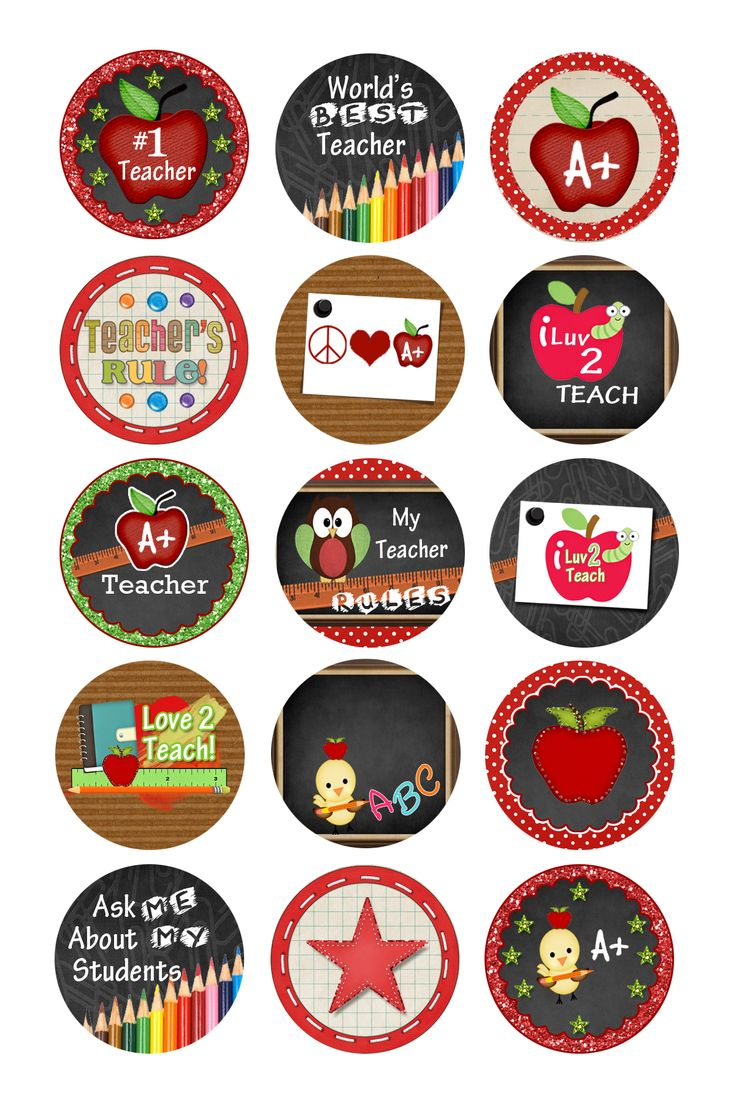 Teacher bottle cap images
