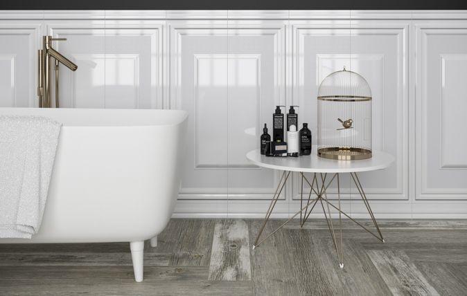 Kolekcję Chevron White Ceramiki Paradyż cechują subtelność i lekkość, wpisujące się w koncepcję eleganckiego wnętrza, utrzymanego w ponadczasowej błyszczącej bieli. drewno I dom I wnętrze I inspiracja I salon I kuchnia I łazienka I architektura I łaznieka I wooden | home | home inspiration | bathroom I bathroom inspiration I ceramic | ceramic tiles | nature I accesories | plants