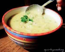 Thermomix easy chicken & brown rice soup recipe from Jo Whitton of Quirky Cooking for Dani Valent