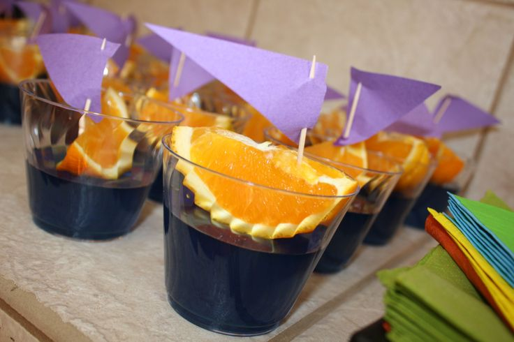 Jello Boats - Tangled Rapunzel birthday party snack food