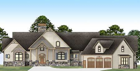 Rustic Ranch With In-law Suite Plan No:W12277JL Style:Ranch, Craftsman Total Living Area:3,366 sq. ft. Main Flr.:2,878 sq. ft. 2nd Flr:488 sq. ft. Attached Garage: 3 Car, 816 sq. ft. Bedrooms:3/4/5 Full Bathrooms:2/3/4 Half Bathrooms:1