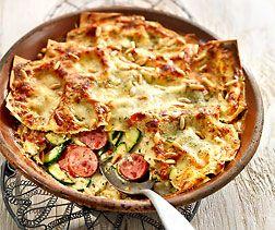 Lasagnes aux courgettes et schüblig
