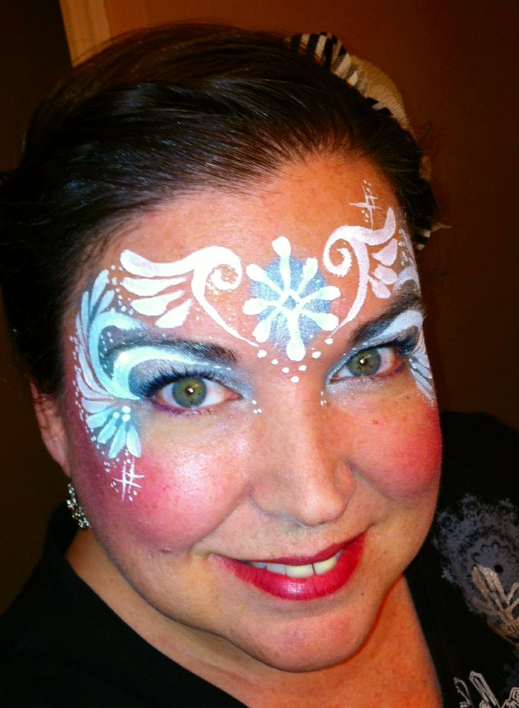 207 best images about face painting winter on pinterest for Frozen face paint