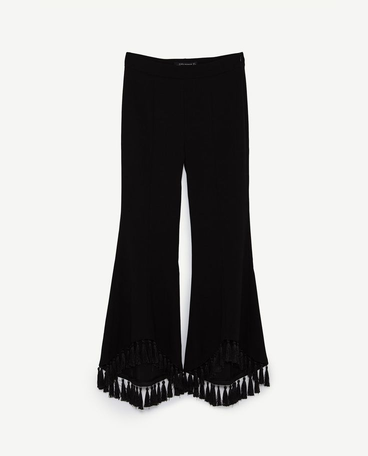 Image 8 of ASYMMETRIC FLARE TROUSERS from Zara