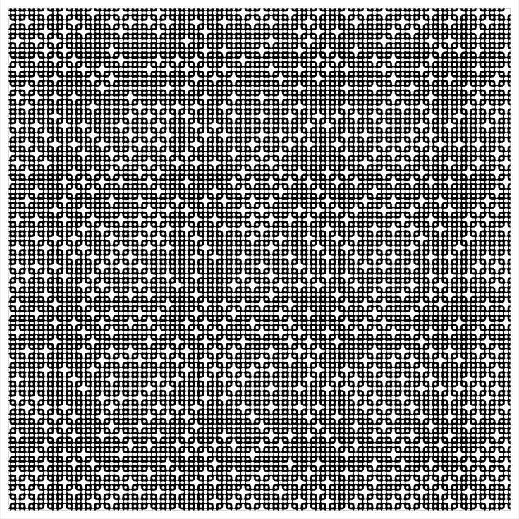 "'Signal & Noise 02-02-2017 # 2' © 2017 Titus Hora  150 x 150cm (54"" x 54"") digital print #abstract #procedural #parametric #generative"