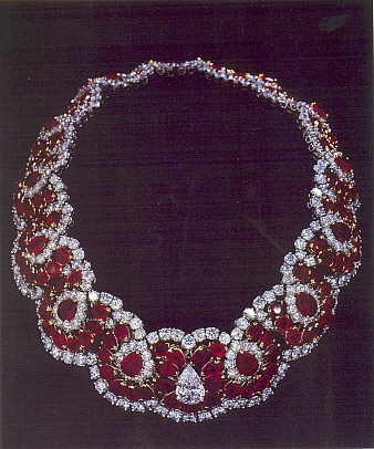 The necklace of The Romanovs Jewelry Collection; it was owned by Imelda Marcos the wife of the President of The Philippines, the richest woman of 1990s.