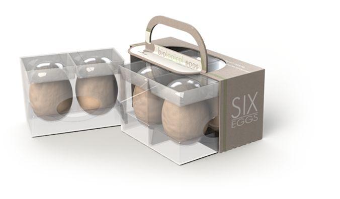Multifunctional egg packaging: slide out, cook, serve.