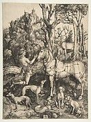 Dürer's Melencolia I is one of three large prints of 1513 and 1514 known as his Meisterstiche (master engravings).  The other two are Knight, Death, and the Devil (43.106.2) and Saint Jerome in His Study (19