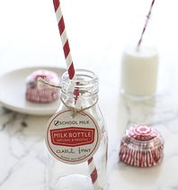 Through The Looking Glass - Wedding Favours, Gifts and Accessories Old School Milk Bottles £2.50